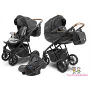 Camarelo Zeo Eco 3-1 ZeoEco-6 (Eko āda melna) bērnu universālie rati